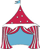 Circus. Red Circus Tent royalty free illustration