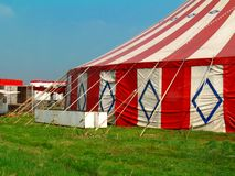 Circus. The tent of a small circus royalty free stock image