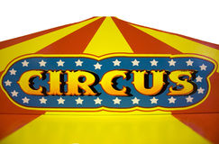 Circus. Vintage multicolored, painted circus sign stock image