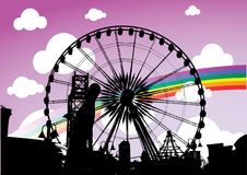 Circus. Illustration of a ferris wheel Royalty Free Stock Images