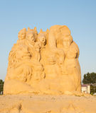Circus. Bulgaria's third Sand Sculpture Festival will be held from the beginning of July until the end of August in the Black Sea city of Bourgas.The Sand stock image