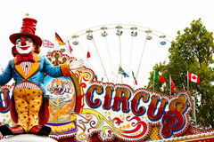 Circus. International circus with clown against white background Royalty Free Stock Photography