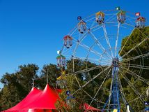 Circus. Big Top and Big Wheel Royalty Free Stock Images