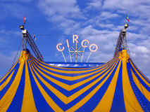 Circus. Tent under the blue sky Stock Image