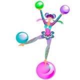 Circus Acrobat Girl. Vector illustration Royalty Free Stock Photography