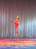 Circus acrobat plastic body Royalty Free Stock Image