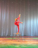 Circus acrobat plastic body Stock Photography