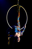 Circus acrobat woman Royalty Free Stock Photos