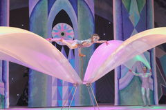 Circus acrobats stock photography