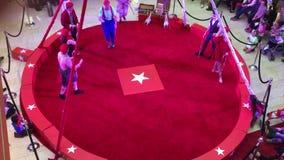 Circus act movie stock video