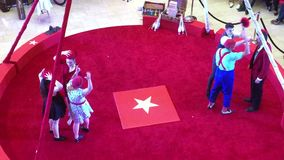 Circus act movie in TX stock video footage