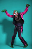 Circus actor in zombie suit posing on studio Stock Photography