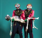 Circus actor in zombie suit posing on studio Stock Photos