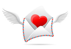 Valentines letter Stock Photography