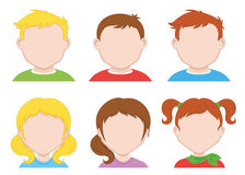 Children icons Stock Photos