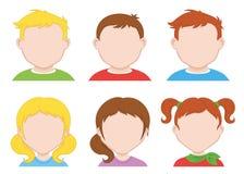 Children icons Stock Photos