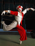 Circus air acrobat. On cord. Photo stock image