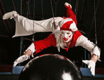 Circus air acrobat Royalty Free Stock Photo