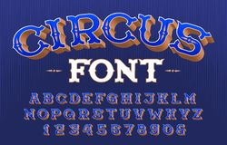 Free Circus Alphabet Font. 3D Retro Letters And Numbers. Royalty Free Stock Photos - 155911118
