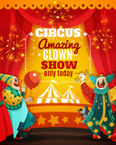 Circus Amazing Clown Show Announcement Poster Stock Photos