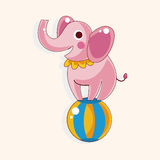 Circus animal theme elements vector,eps Royalty Free Stock Photos