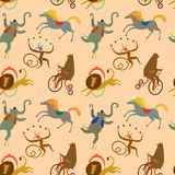 Circus animals cartoon background Royalty Free Stock Images