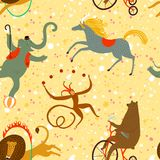 Circus animals cartoon background Stock Photos