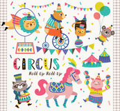 Circus animals. Set of cartoon circus animals Royalty Free Stock Image