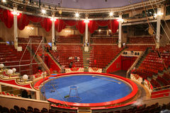 Circus arena. The top view of circus arena stock photo