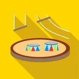 Circus arena icon, flat style Royalty Free Stock Photos