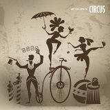 Circus artists. Authors illustration in vector Royalty Free Stock Photo