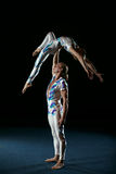 Circus artists perform different tricks. Stock Images