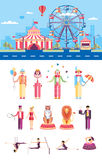 Circus with artists Royalty Free Stock Image