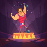 Circus Athlete Illustration Royalty Free Stock Photo