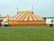 Circus background. Works with green key Stock Image
