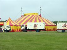 Circus background. With plenty of green Stock Photos