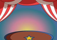 Circus background. Stage colorful with tent Stock Image