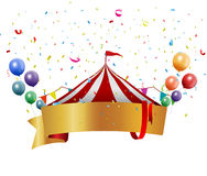 Circus background with balloon and confetti Royalty Free Stock Photos
