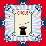 Circus background. Circus poster with black magic cylinder. Eps 10 Royalty Free Stock Photo