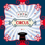 Circus background. Circus poster with black magic cylinder. Eps 10 Royalty Free Stock Photos