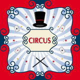 Circus background. Circus poster with black magic cylinder. Eps 10 Stock Photography