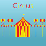 Circus, balloons and flags. Circus with balloons and flags. Vector colorful illustration Royalty Free Stock Images