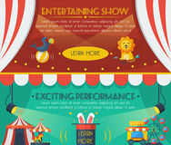 Circus banner set Royalty Free Stock Image