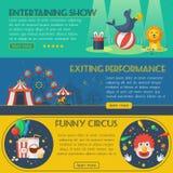 Circus banner set stock illustration