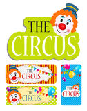 The Circus Banner Set Vector Illustration Stock Images