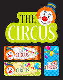 The Circus Banner Set Vector Illustration Stock Photography