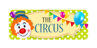 The Circus Banner Vector Illustration Stock Image