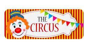 The Circus Banner Vector Illustration Royalty Free Stock Images