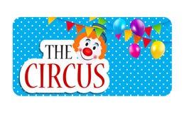 The Circus Banner Vector Illustration Stock Photos