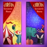Circus banner vertical Stock Image